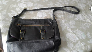 Black  leather hand bag