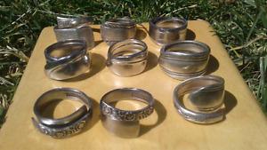 Handmade spoon rings