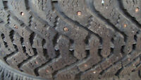 185 65 14 goodyear nordic winters on kia 4 x 100 steel rims