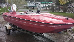 16 ft Fiberglass fishing boat