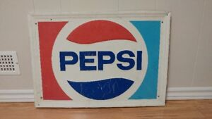 Vintage Pepsi Advertising Sign