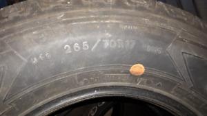 265/70R17 tires