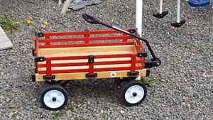 Red wood wagon