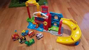 Assorted baby/toddler toys & gate - prices in description