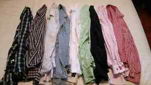 Lot Mens Dress Shirts Sz Large
