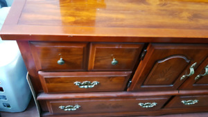Antique dresser and end tables
