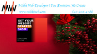 Christmas Special Website Design For $450 Is On @ MikkiWeb