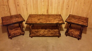 New handmade coffee table with end tables 280.00 negotiable