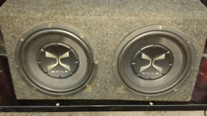 Sub box and 2 ten inch subs