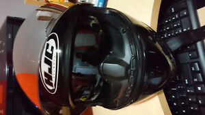 HJC FS-10 Helmet, retractable sun visor, breath guard, XL
