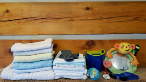 Baby Change Pads, Receiving Blankets, Baby Banz Sunglasses etc.