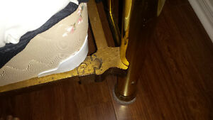 Antique Brass Bed - Double size Kitchener / Waterloo Kitchener Area image 3