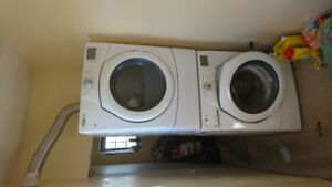 Whirlpool stackable washer dryer set. Only 5 years old.