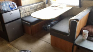 Sold pending PU - TRAILER DINING BOOTH TABLE/BED