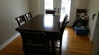 Kitchen Table with 10 Chairs