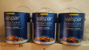3 Gallons Valspar Signature Paint - Spring Leaves Green