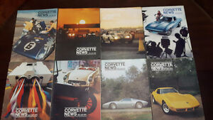 CORVETTE NEWS MAGAZINES, 1969 TO 1975, 18 ISSUES, MOTOR TREND, C