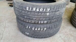 Pair of 2 Fuzion Touring 215/60R17 tires (70% tread life)