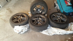 Tires and rims used R17