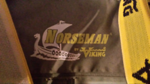 Pair of Norseman LARGE fisherman bib rubber overall