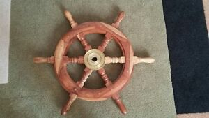 Nautical Wheel - solid wood and brass
