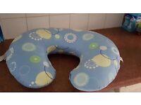 Blue breastfeeding pillow