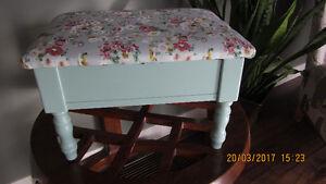 Seafoam Green Footstool