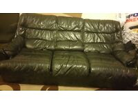 Three seats Leather sofa in good condition