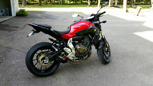 2015 Yamaha FZ-07 with over 1500$ in accesories