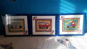 3-piece Frame set for little boys room