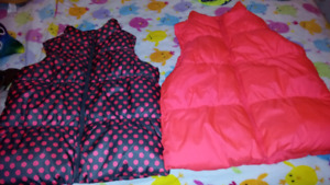 2 Puffy Vests New Size 14 Girls