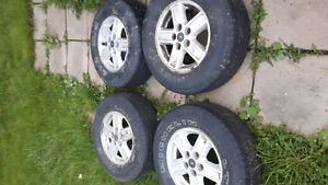 225 75 15 tires on ford escape rims