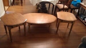 Solid oak Amish made coffee and end tables