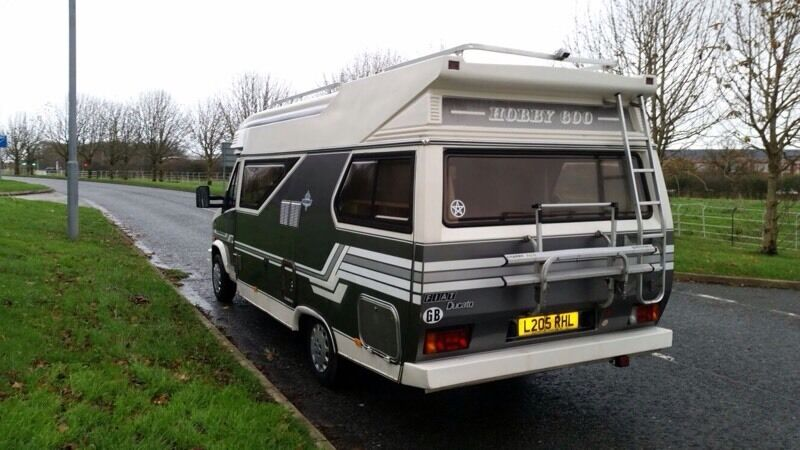 hobby 600 4 berth 1994 motorhome fixed bed diesel fiat. Black Bedroom Furniture Sets. Home Design Ideas