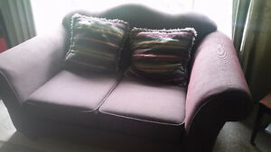 Maroon Coloured Couch & Loveseat