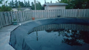pool, heater and  cedar decking for sale