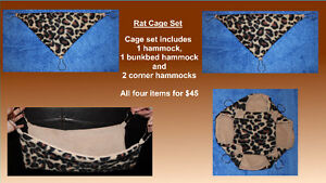 New Sugar Glider/ Rat cage sets, cubes, pouches and toys!