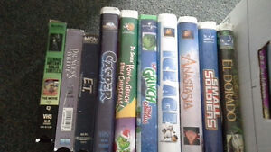 kid's movies on vhs includes How the Grinch stole Christmas