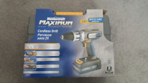 Cordless drill, reciprocating saw, multi-crafter and polisher