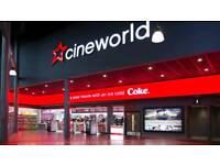 CINEWORLD VUE ODEON SHOWCASE CINEMA GIFT CARDS VOUCHERS TICKETS