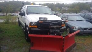 Ford F-350 Pickup Truck with Boss v-plow