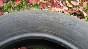Four 225-60-R16 all seson tires for sale-great shape!