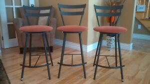 Amisco wrought iron sturdy counter stools