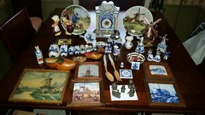 Large collection of Dutch, Netherlands Pottery Delft Blue etc.
