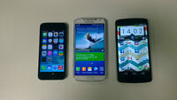 IPHONE, NEXUS, SONY, SAMSUNG PHONES FOR SALE