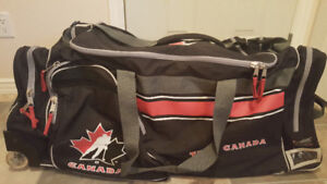 "Wheeled 34"" Team Canada Hockey Bag"