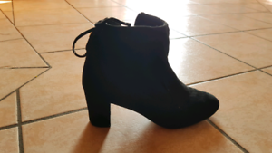 Black Suede Pump Ankle Boot