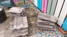 Russell double roman concrete roof tiles