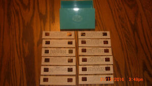 1962 Post Cereal Stereo View Slides x 12 with Storage Box