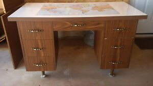 Study Desk with Map of the World